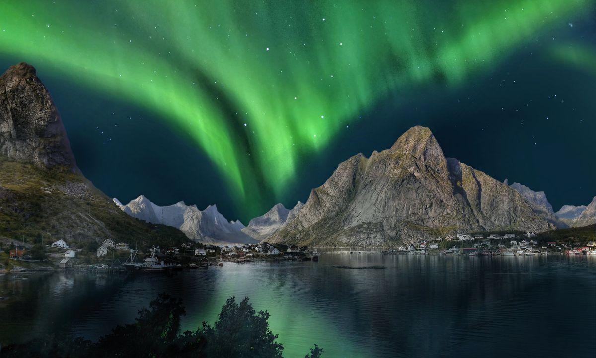 Aurora boreale in Norvegia (Dreamstime)