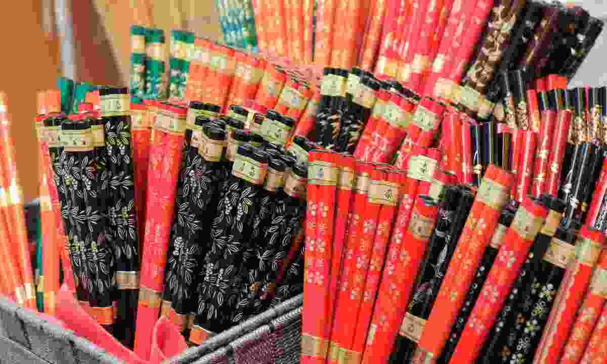 Chopsticks on display in Japan (Dreamstime)