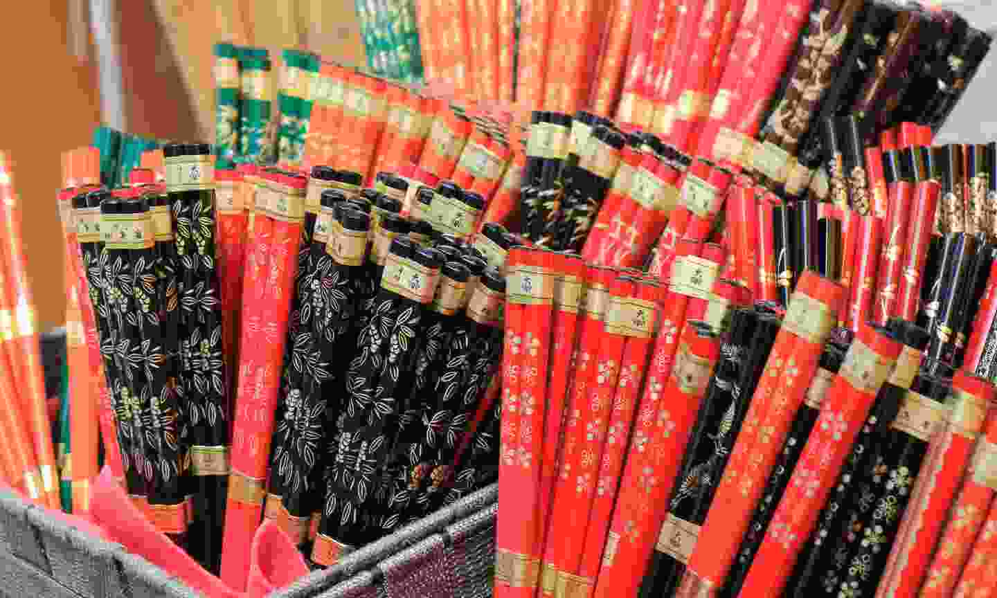 Chopsticks on display in Japan (Dreamstime)