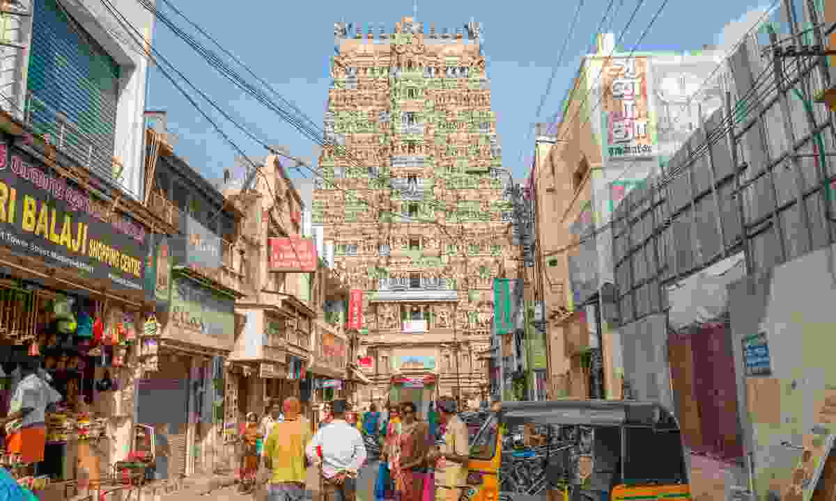 Tamil Nadu town and temple (Dreamstime)