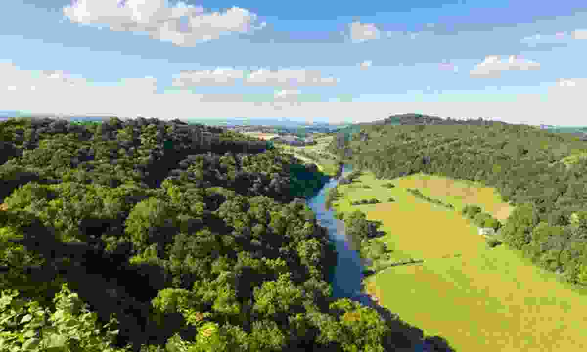 The Wye Valley, where Kate Humble lives (Dreamstime)