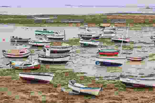 Colourful rowing boats at Île Molène (Carolyn Boyd)