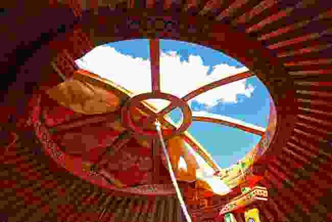 Inside a Mongolian yurt (Shutterstock)