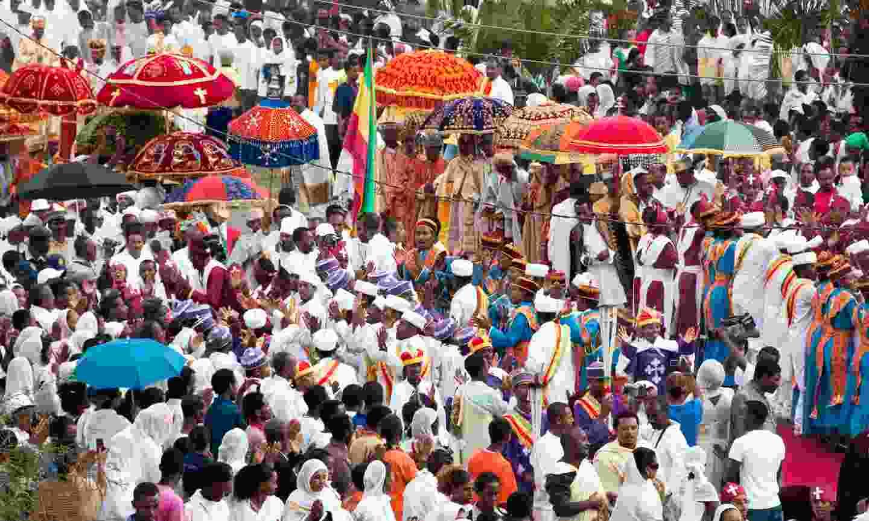 A celebration of Timkat in Ethiopia (Shutterstock)