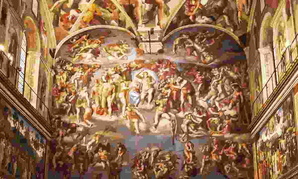 Inside the Sistine Chapel (Shutterstock)