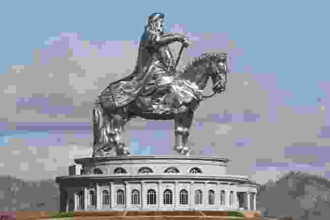 Equestrian statue of Genghis Khan in sunny weather. Mongolia, Ulaanbaatar (Shutterstock)