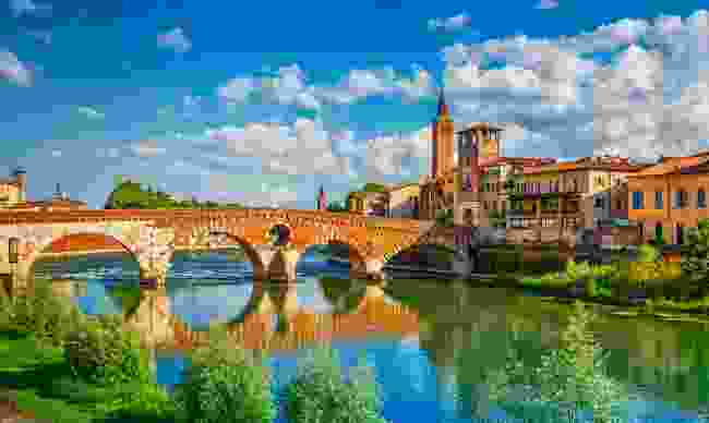 The beautiful Ponte Pietra bridge (Shutterstock)