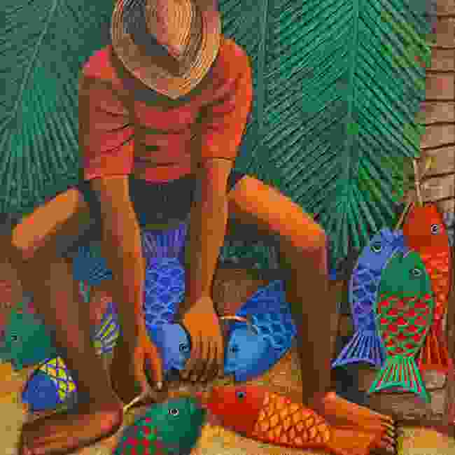 Painting of a Creole fisherman by George Camille (Peter Moore)
