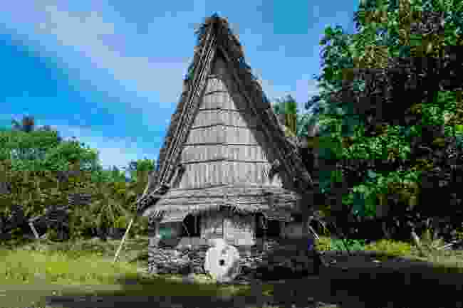 A traditional thatched house on yap Island, Micronesia (Shutterstock)