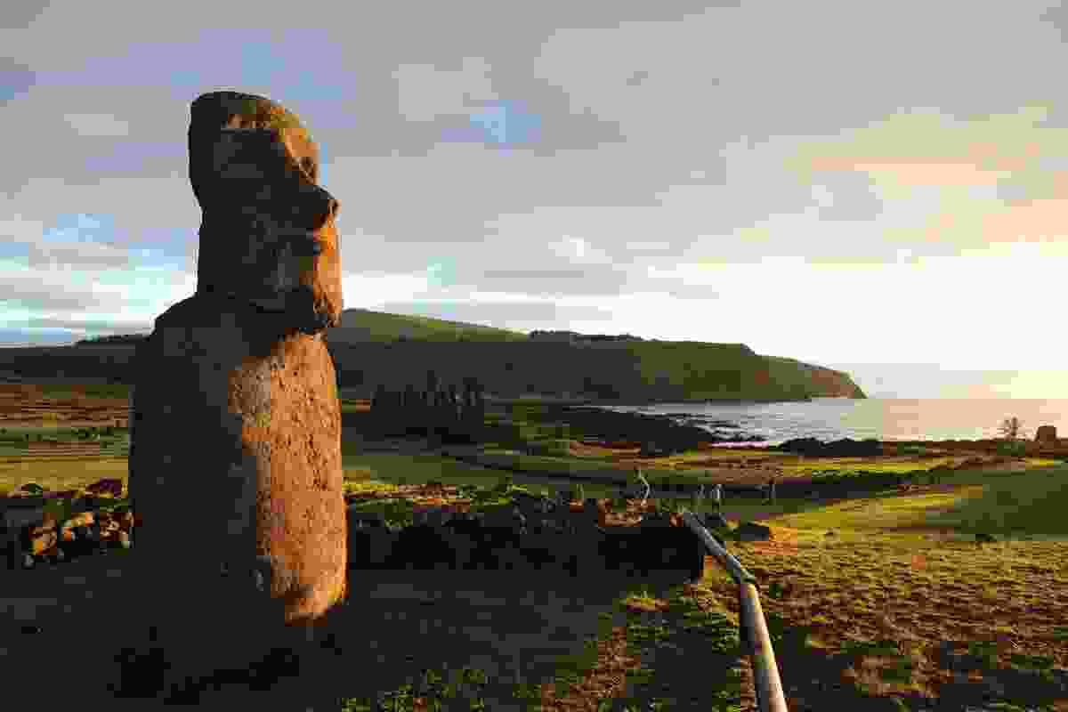 The Travelling Moai at Tongariki, at dawn (Phoebe Smith)