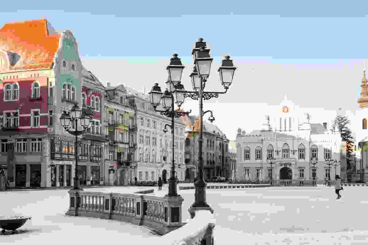Snowy streets in Timisoara (Dreamstime)