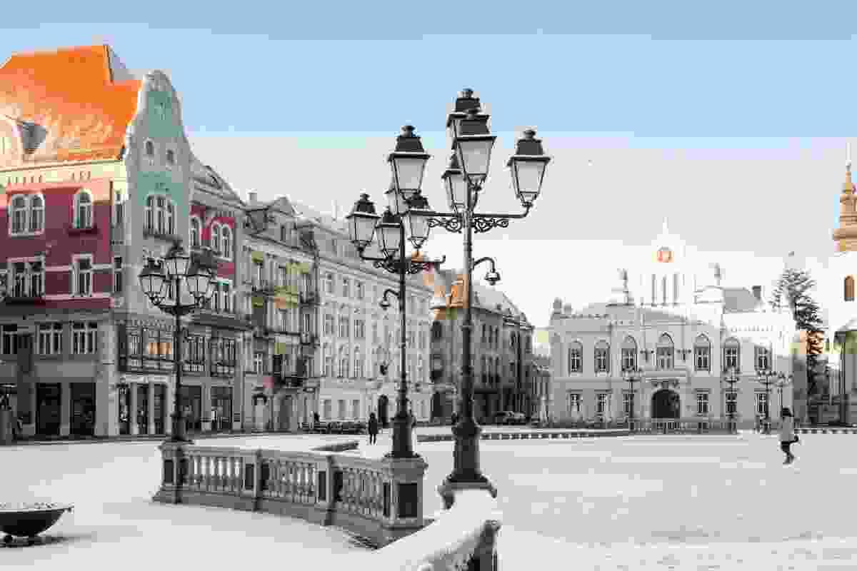 Snowy streets in Timisoara. (Dreamstime)