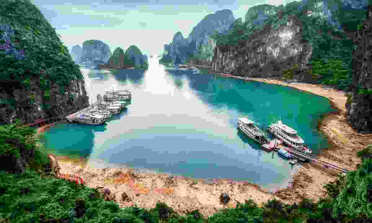 Junk boats in Halong Bay (Dreamstime)