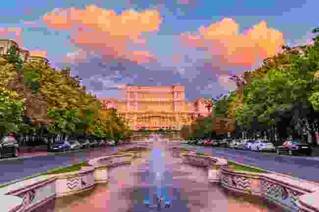 Palace of Parliament at sunrise, Bucharest (Shutterstock)