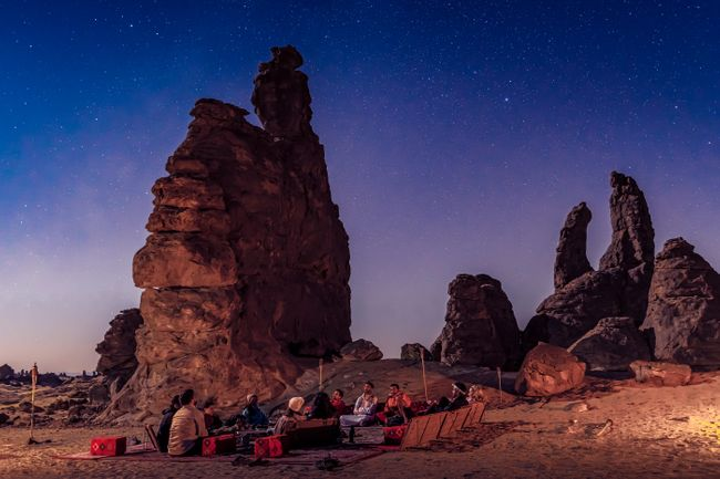 النجوم في الغراميل ، المملكة العربية السعودية (تجربة العلا)