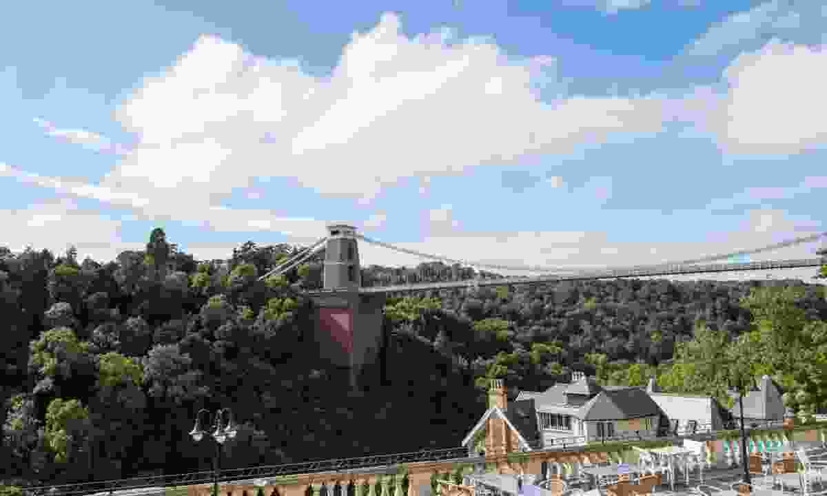 Views of Clifton Suspension Bridge from the terrace (White Lion Bar)