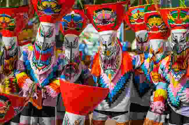 Masks worn during Phi Ta Khon (Shutterstock)