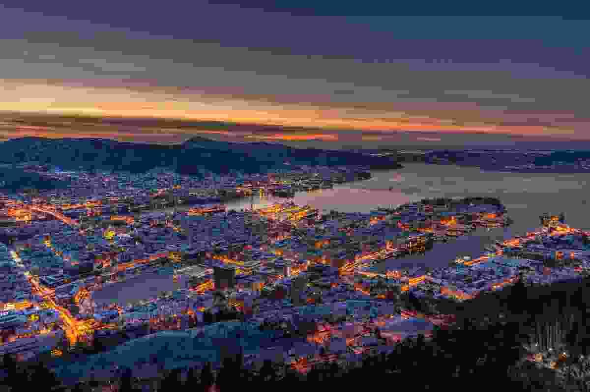 Wintry Bergen in evening light (Dreamstime)