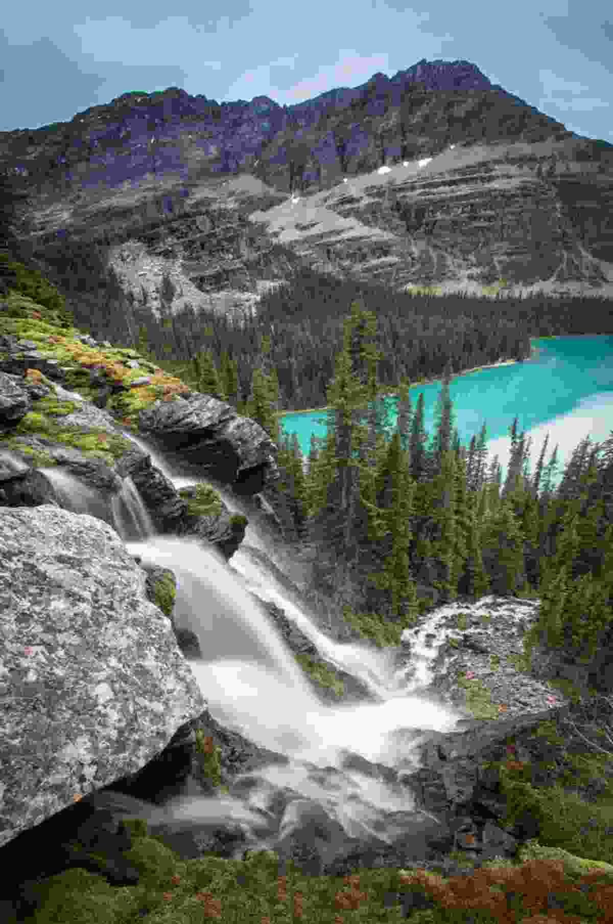 Seven Veils Falls and Lake O'Hara (Paul Zizka)