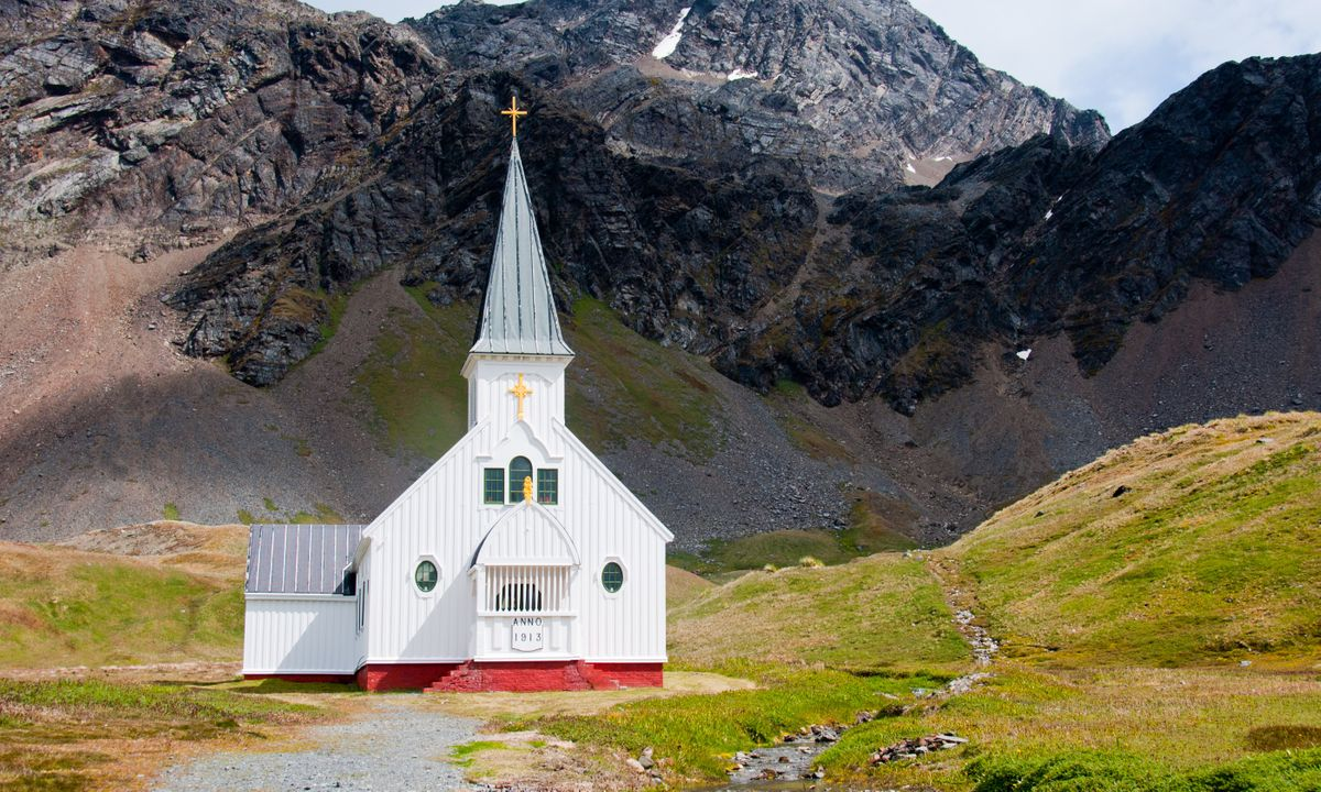 The Whaler's Church on South Georgia Island  (Dreamstime)