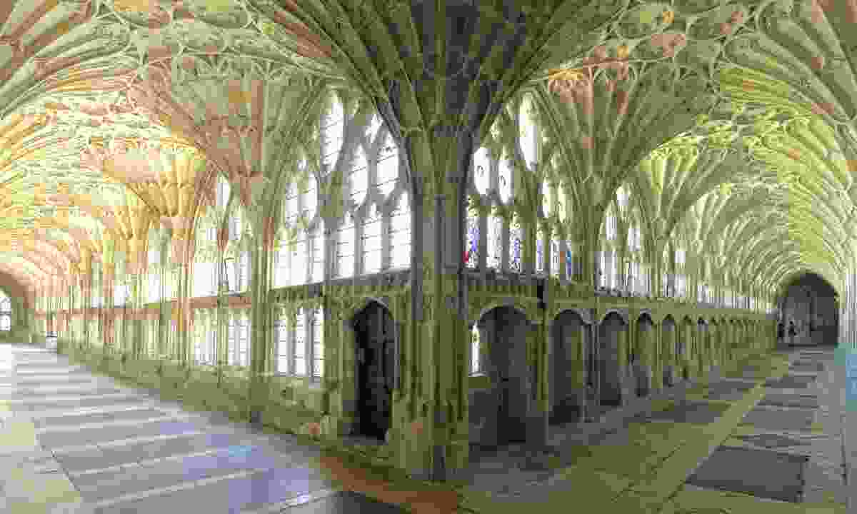 The cloisters in Gloucester Cathedral (Dreamstime)