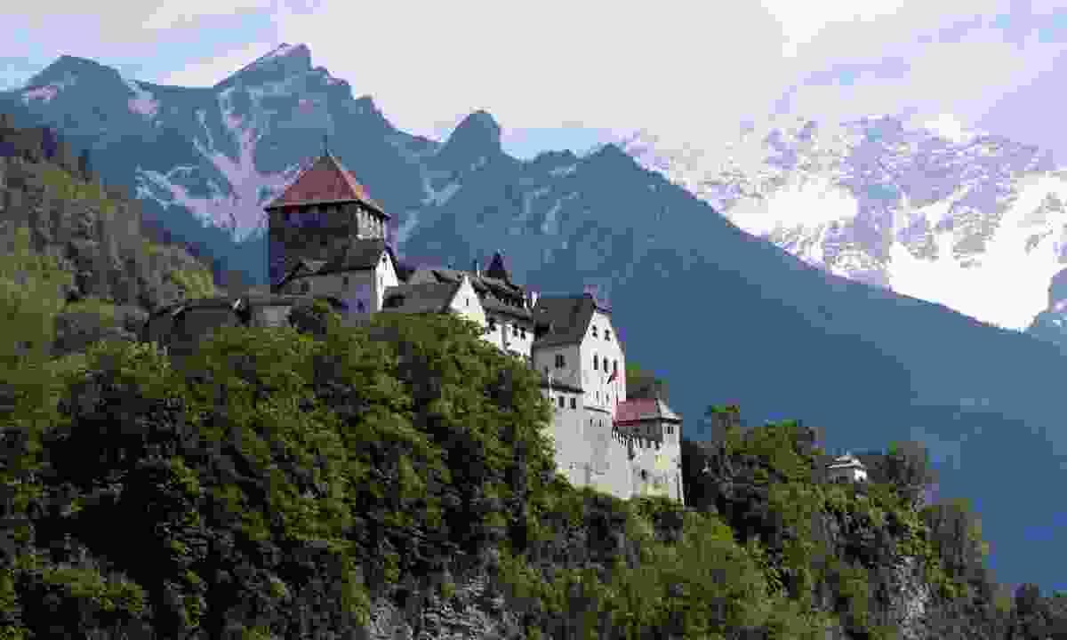 Castle on top of the mountain in Vaduz, Liechtenstein (Dreamstime)