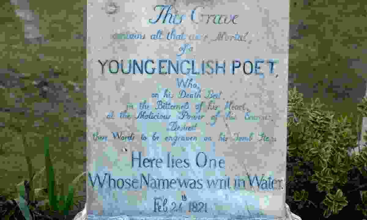 John Keats' headstone in  the Protestant cemetery in Rome (Dreamstime)
