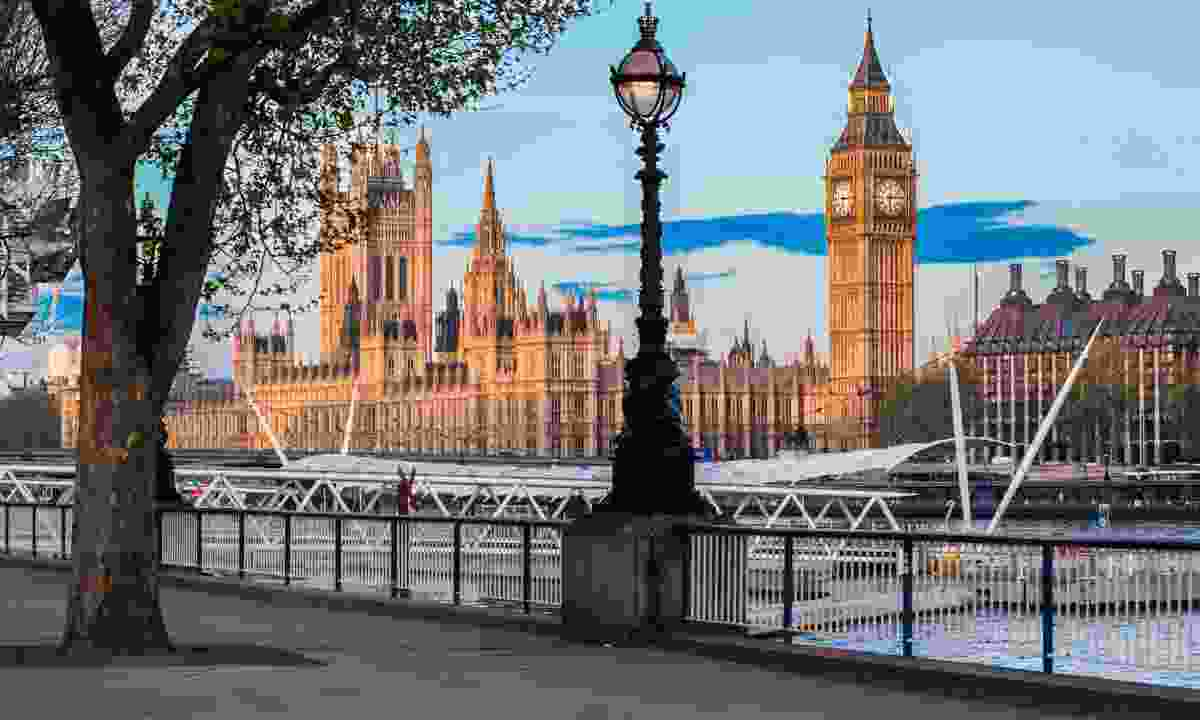 South Bank of River Thames with Big Ben and Palace of Westminster  (Dreamstime)