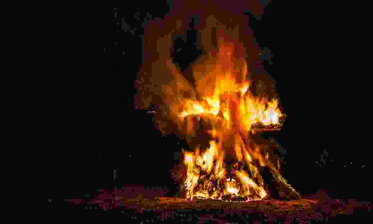 A bonfire in the Ardenne (Dreamstime)