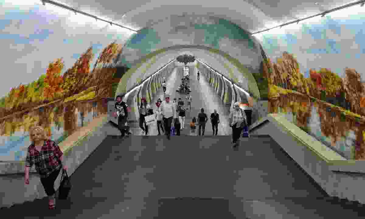 The Yeritasardakan metro station (Peter Moore)