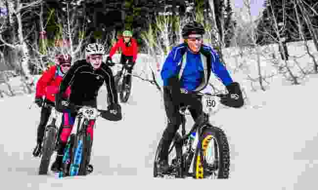 Fat biking in the snow in Utah (PB Creative Photo/USA Cycling)
