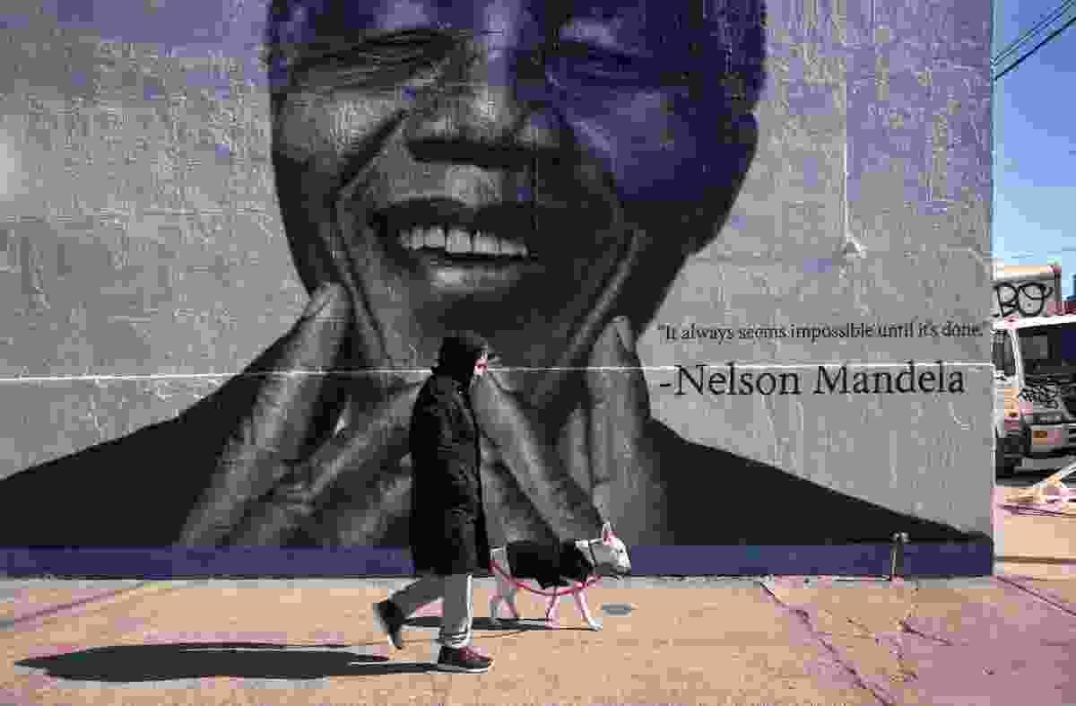Nelson Mandela mural, Whyte Avenue, Brooklyn (Richard Koek)