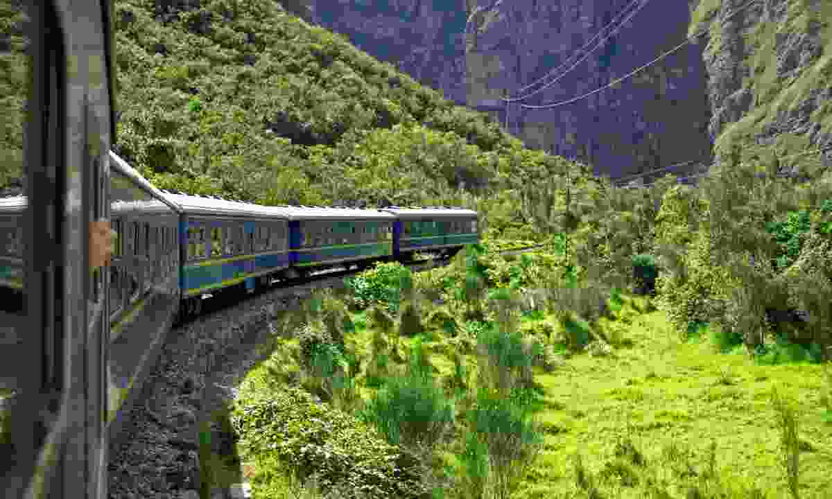 Train from Cusco to Machu Picchu (Dreamstime)