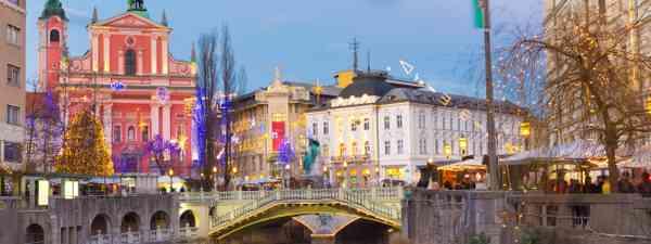 Ljubljana city centre (Dreamstime)