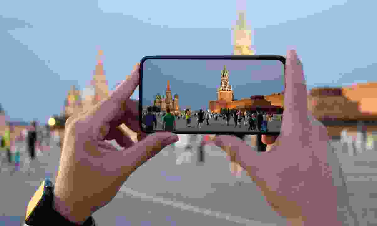 Filming St Basil's Cathedral, Russia (Dreamstime)