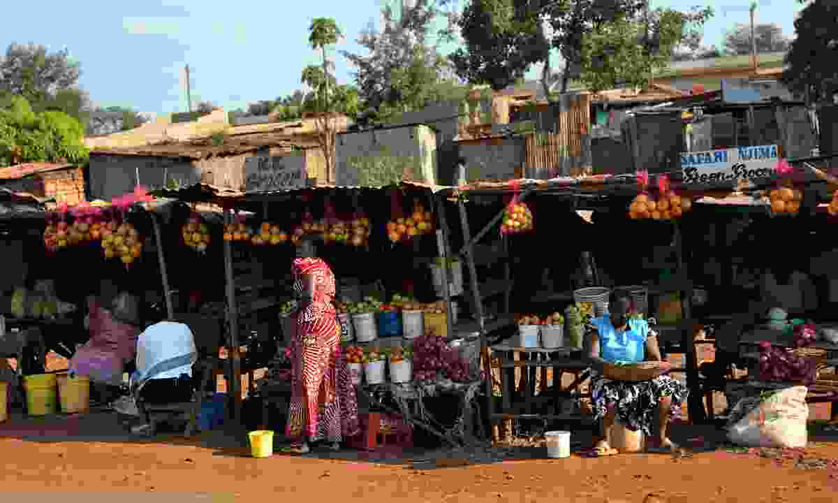A rural market in Kenya (Dreamstime)