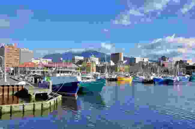 Hobart's famous harbour, Tasmania, Australia (Shutterstock)
