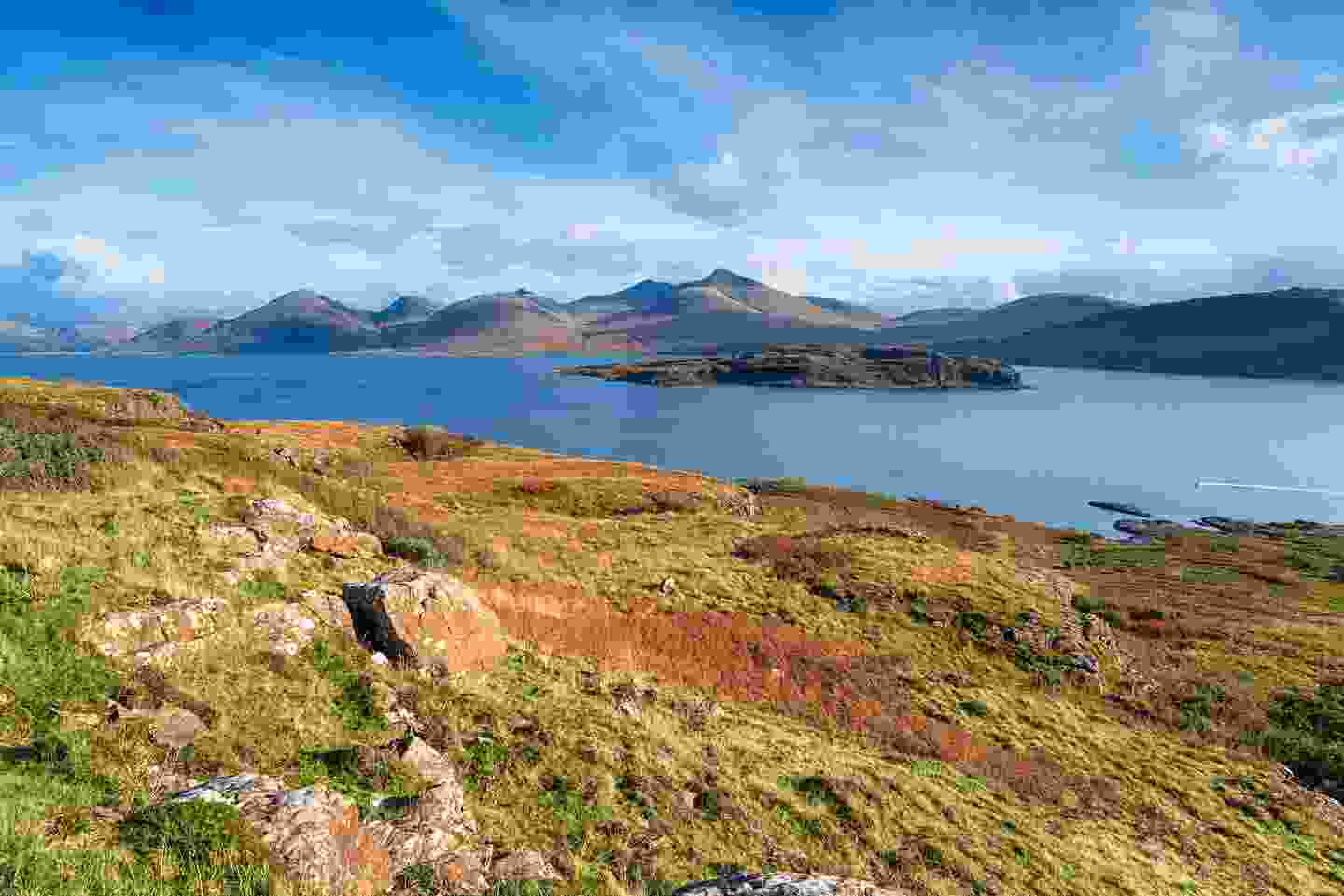 A view of Ben More from the Isle of Mull, Scotland. Can you spot a golden eagle? (Shutterstock)