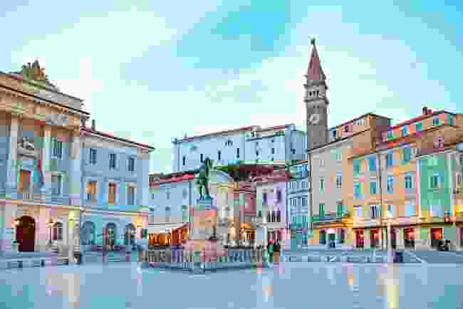Tartini Square in the centre of Piran, Slovenia (Shutterstock)
