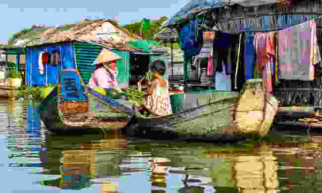 Visit one of the floating villages on the nearby Tonlé Sap lake (Shutterstock)