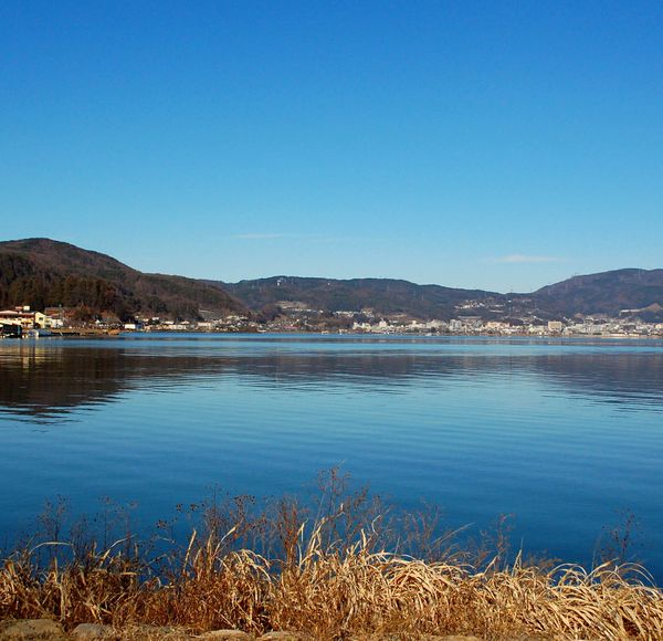 Explore further: Lake Suwa is encircled by a 16 km promenade, perfect for cycling, and with views of Mount Fuji from Mizube Park on the northern bank. In late January you may witness the phenomenon of omiwatari, when the ice covering the lake cracks dramatically, said to be caused either by a dragon, or by two gods meeting on the lake.