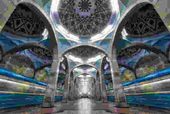 The interior of a Tashkent Metro station (Shutterstock)