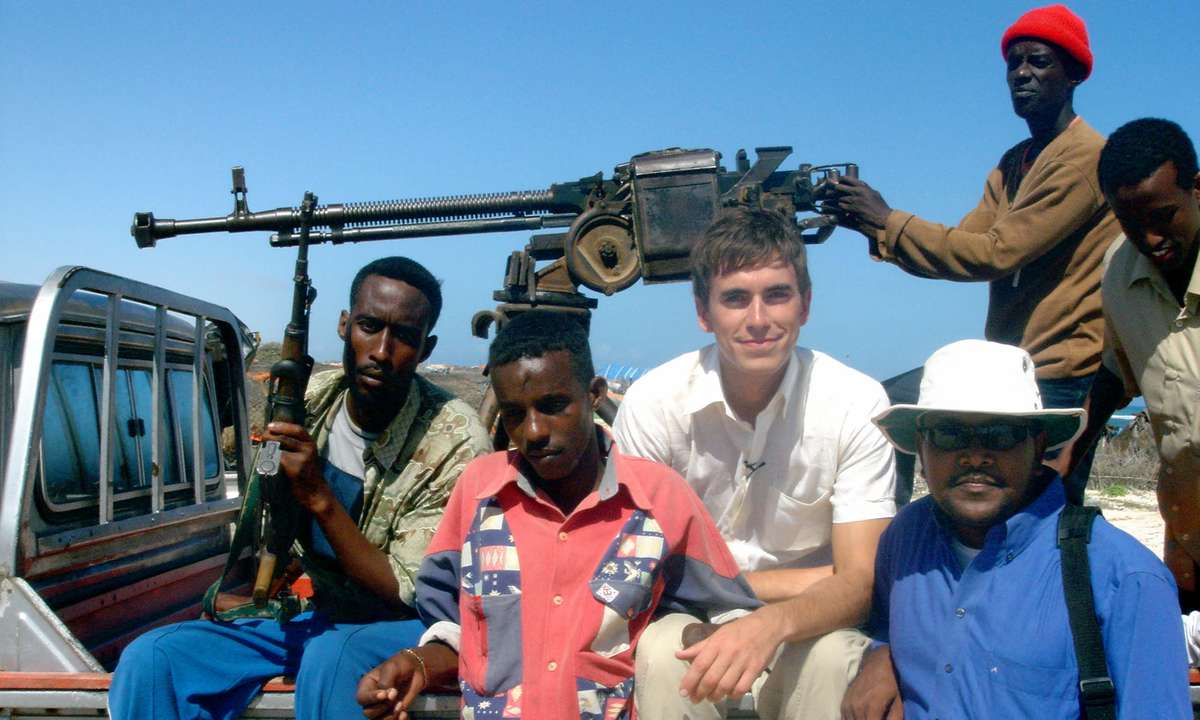 Simon Reeve with guards in Mogadishu (Simon Reeve)