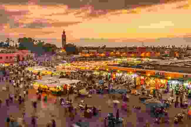 Djemaa el-Fna, the main square in Marrakech (Shutterstock)