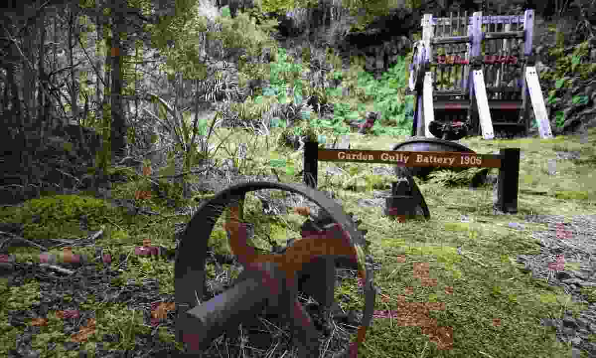 Garden Gully has pockets of machinery that nod to its mining past (Phoebe Smith)