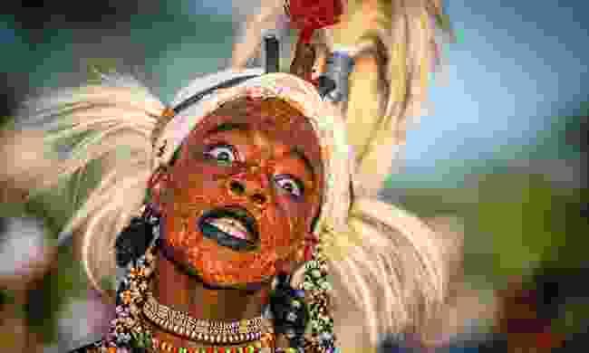 Ochre is often used as make up during Gerewol festival (Trevor Cole)