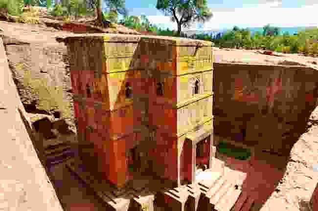 Unique monolithic rock-hewn Church of St. George, Lalibela, Ethiopia