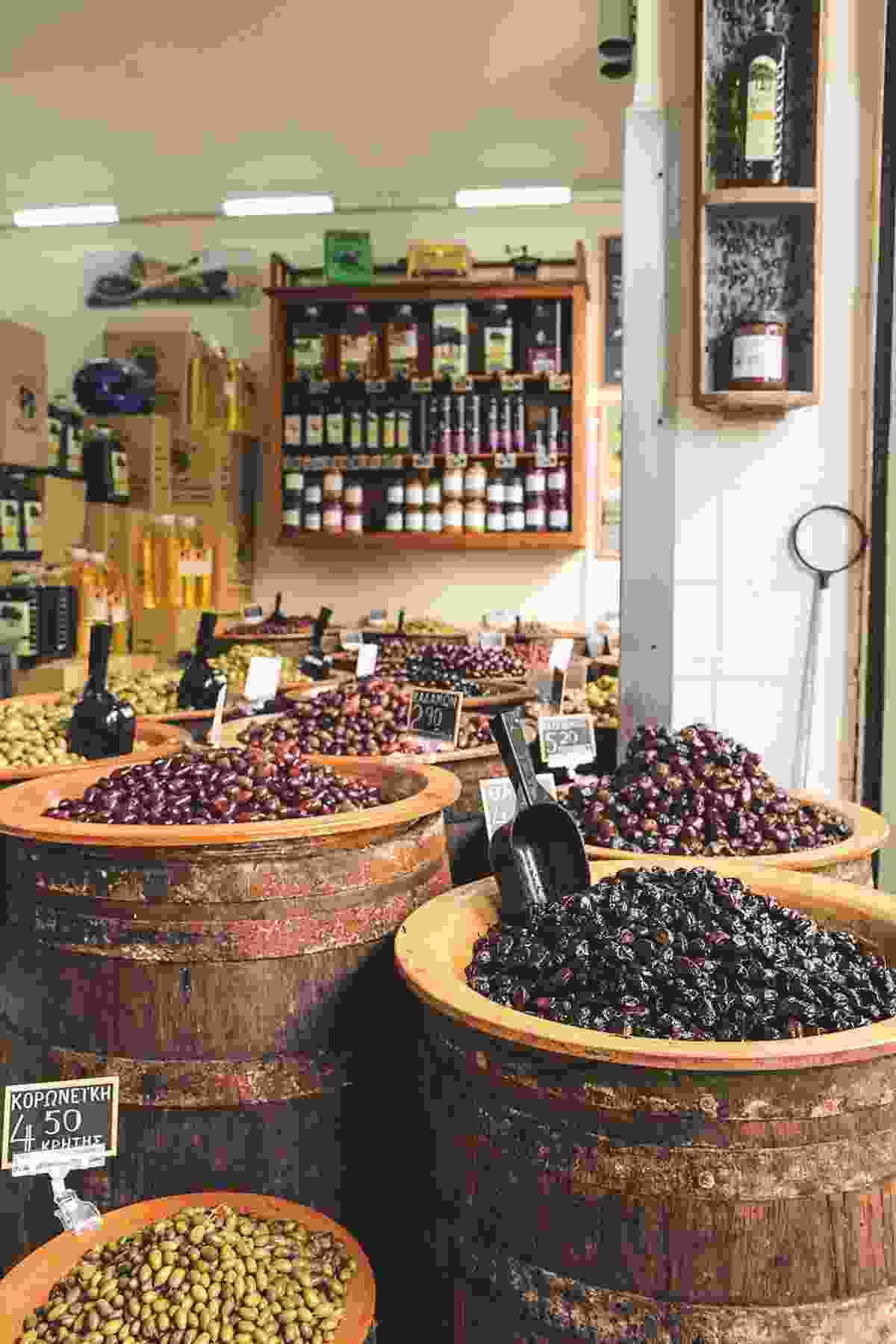 Barrels of olives at Ariana (Yannis Varouhakis)