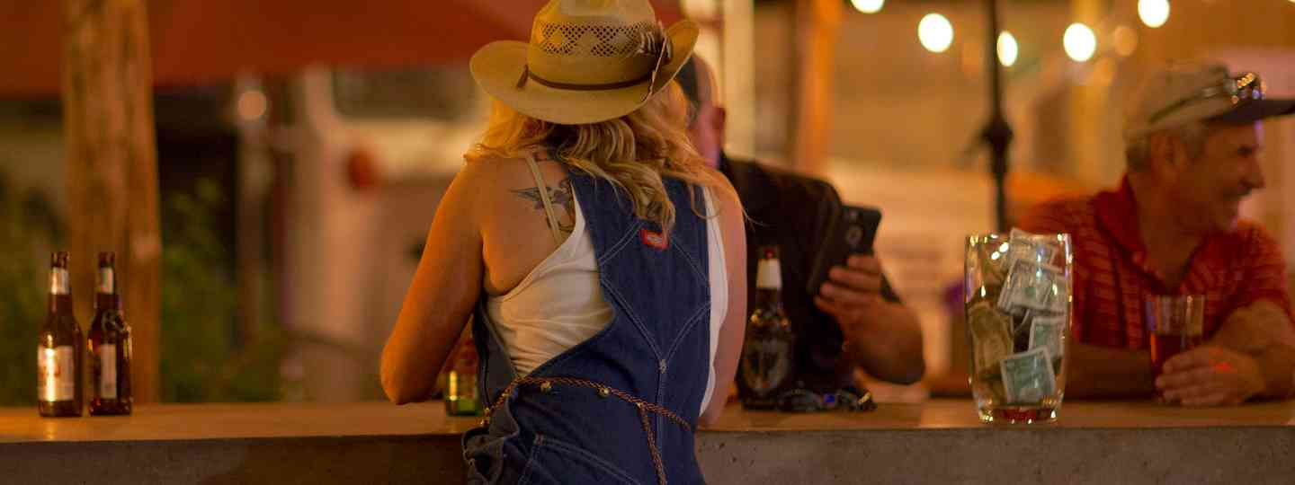 Cowgirl at a bar in West Texas (Jennifer Johnson)