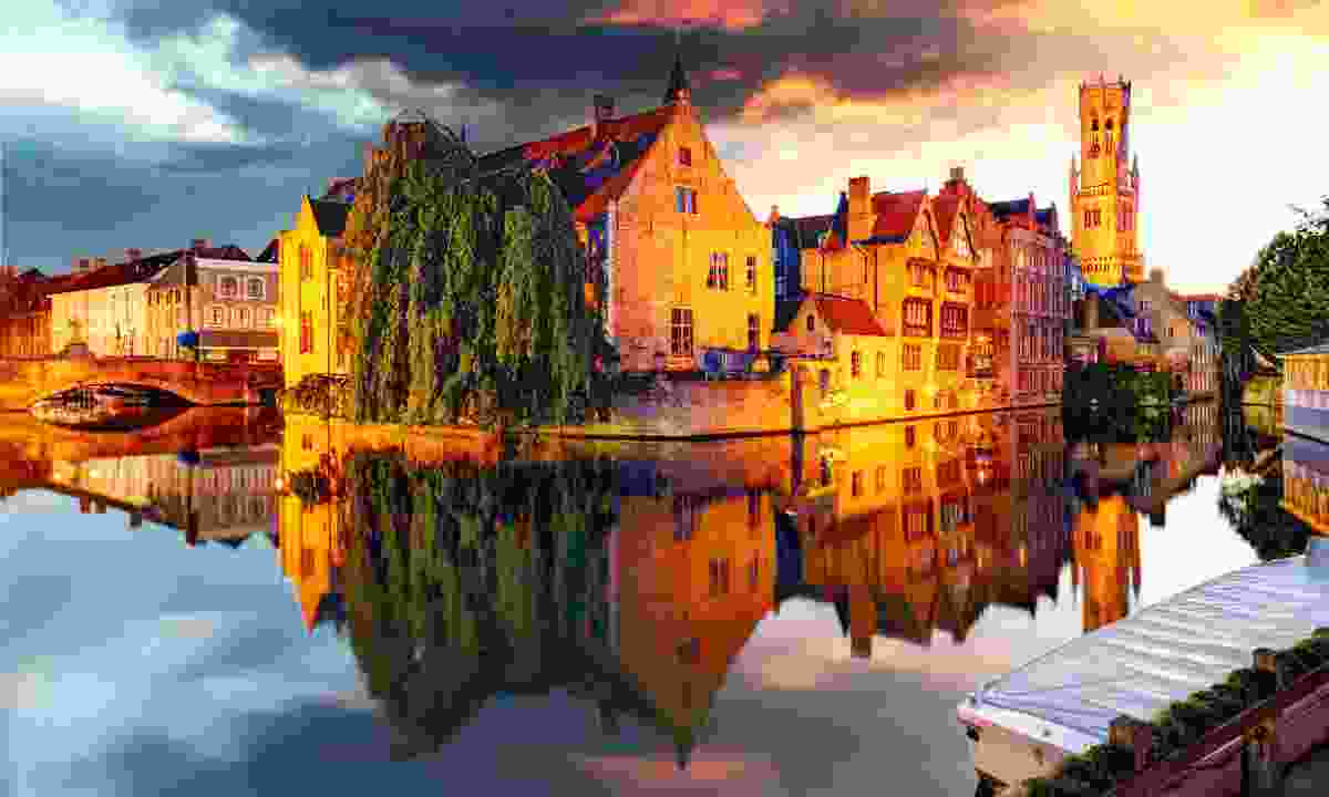 Bruges at sunset (Dreamstime)
